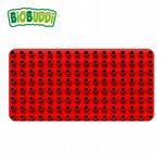 BiOBUDDi - Baseplate Red - Eco Friendly Block Set - 1 Plate